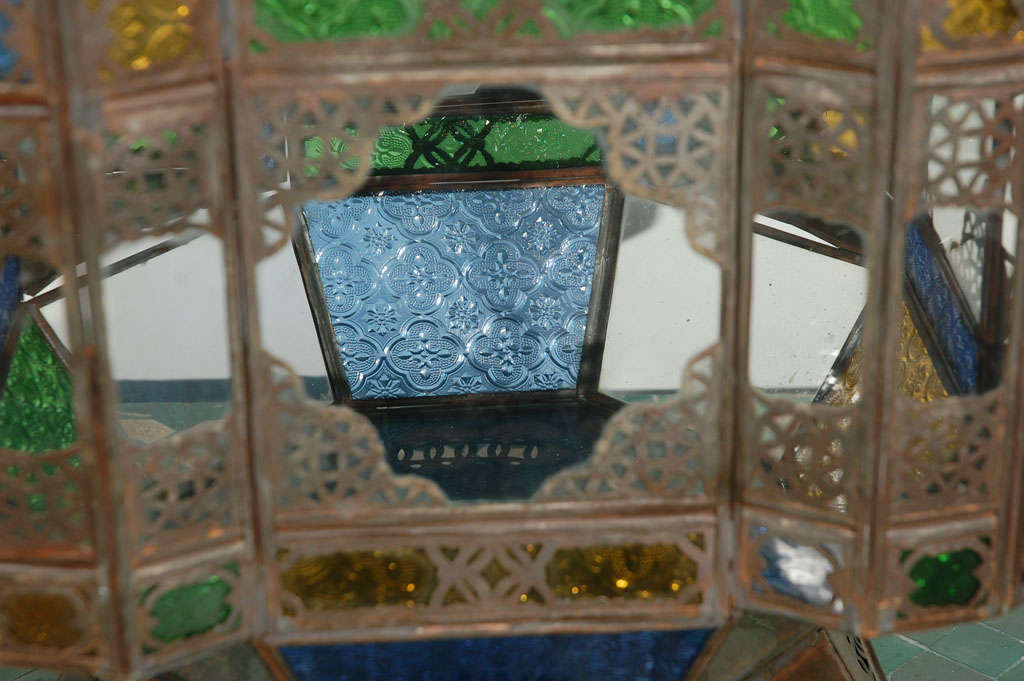 Moroccan Vintage Glass Lantern from Marrakech 7
