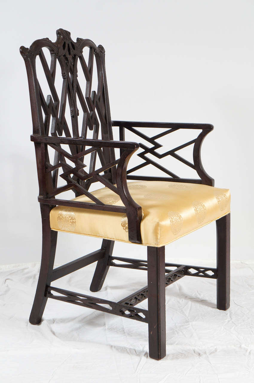 Chippendale arm chair - Chinese Chippendale Style Arm Chair 3