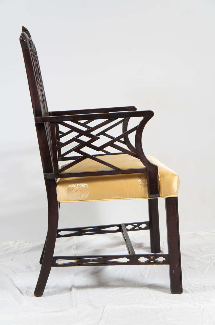 Chinese chippendale style arm chair for sale at 1stdibs for Asian chairs for sale