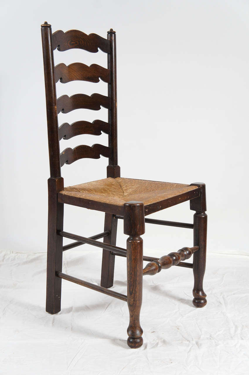 Six english ladder back dining chairs at 1stdibs - Ladder back dining room chairs ...