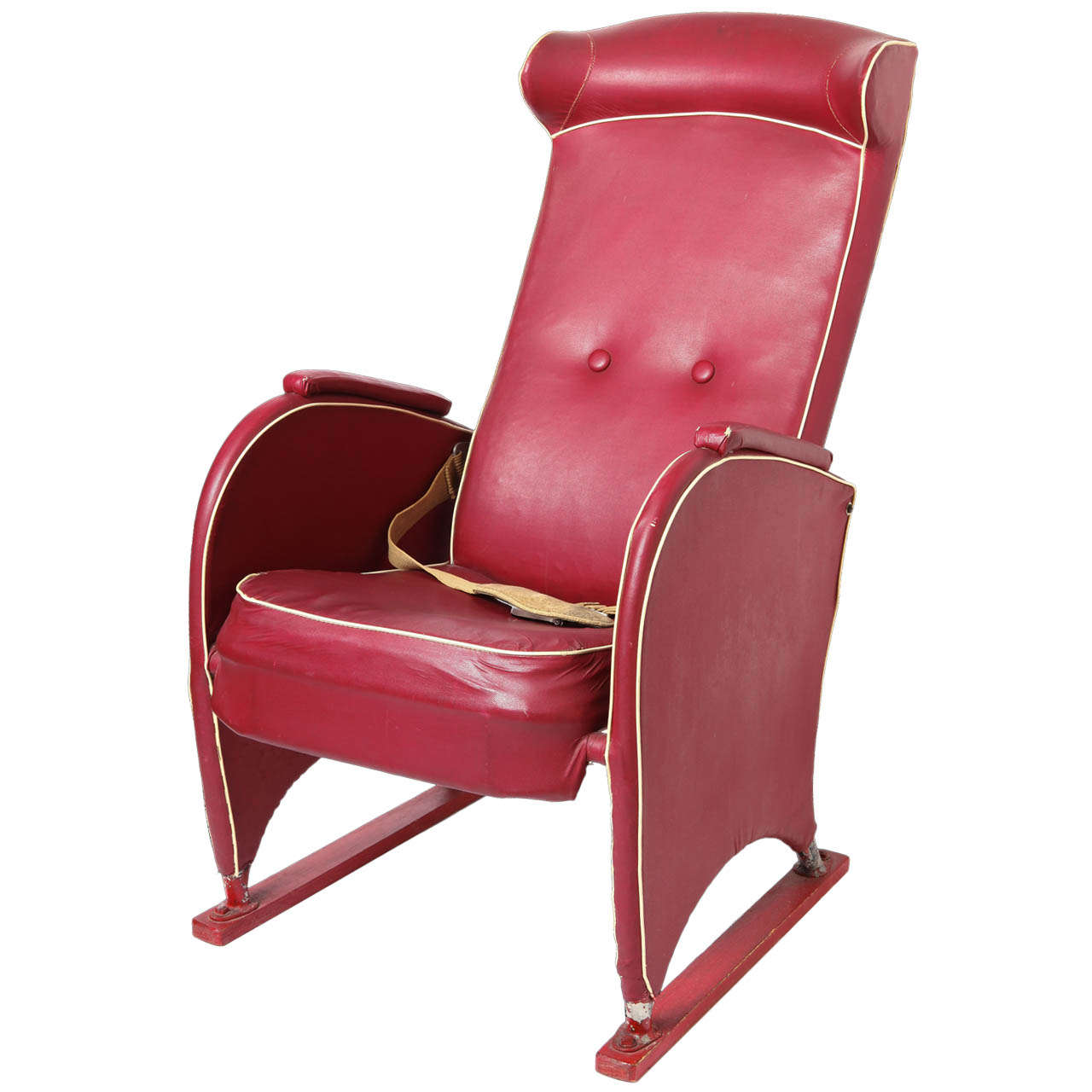 Modernist air france art deco first cabin seat circa 1940 for sale at 1stdibs for Air deco
