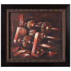 Extreme Industrial  Machine Age Oil on Canvas