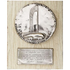 Art Deco Norman Bel Geddes for General Motors Machine Age Dealer Plaque