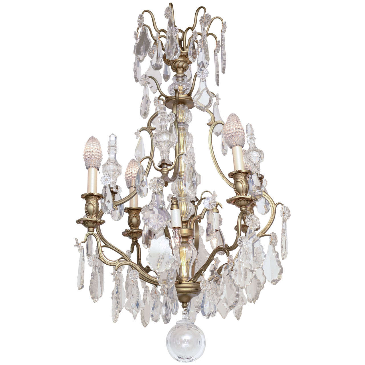 19th Century Antique French Baccarat Chandelier At 1stdibs