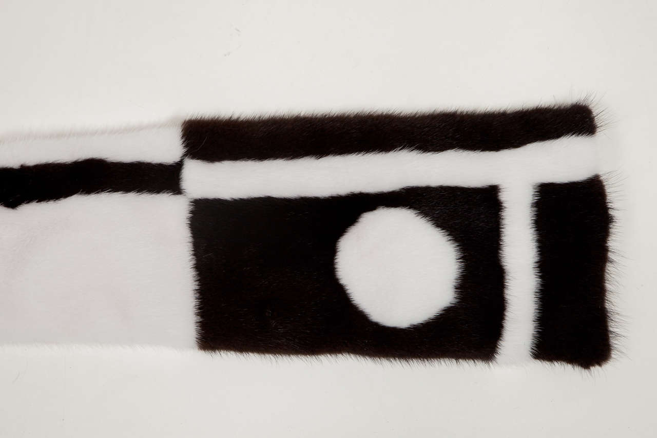 American Mink Scarf Offered by Area ID For Sale