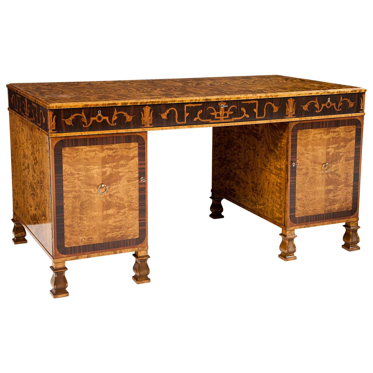 Carl Malmsten Pedestal Desk 1