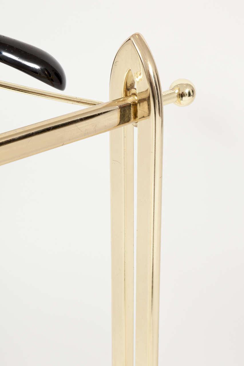 20th Century Italian Mid-Century Modern Brass Valet For Sale