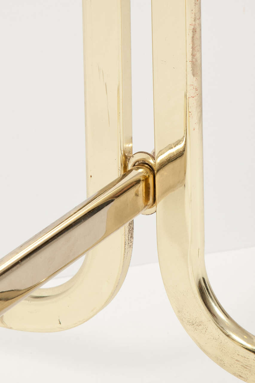 Italian Mid-Century Modern Brass Valet For Sale 4