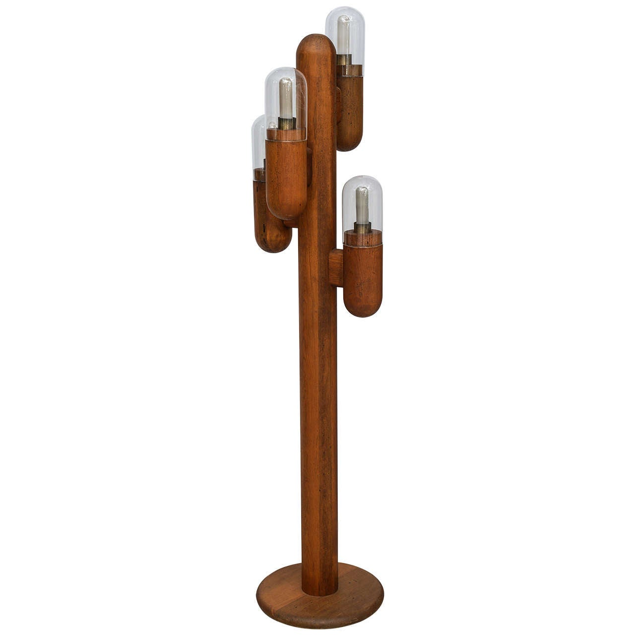 mid century modern wood cactus shaped floor lamp at 1stdibs