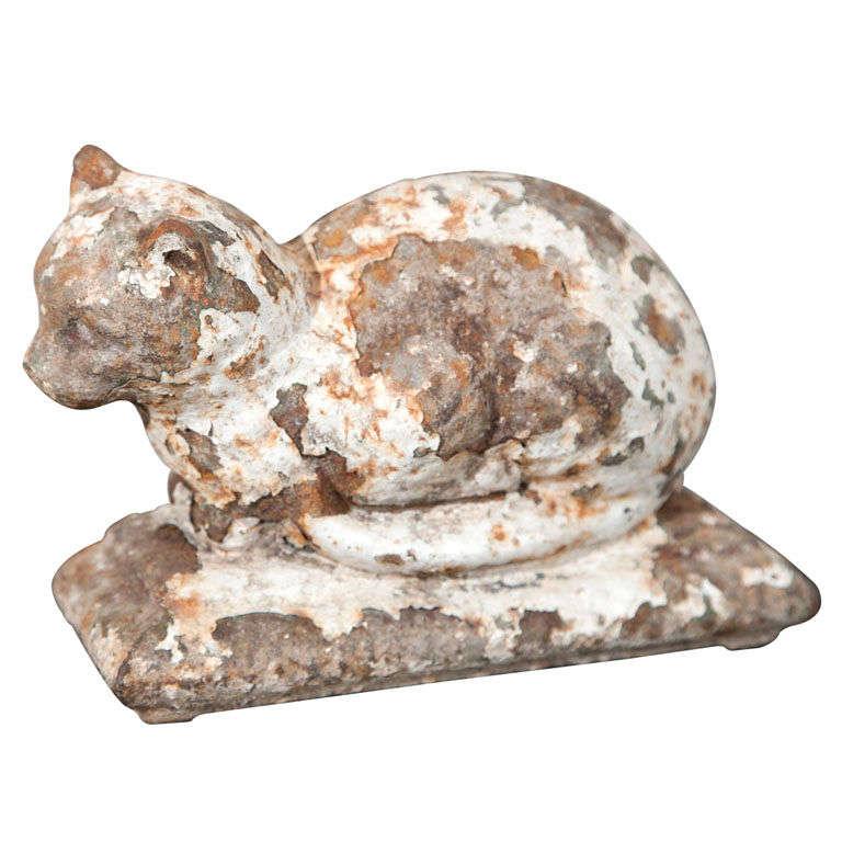 Regency period cast iron cat doorstop at 1stdibs - Cast iron cat doorstop ...