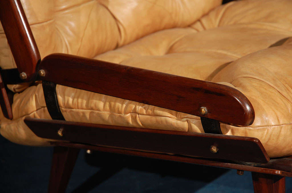 Leather Brazilian Armchair For Sale