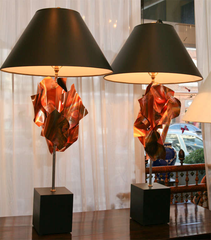 """""""Convolution"""" Sculpture Lamps By Lou Blass 2"""