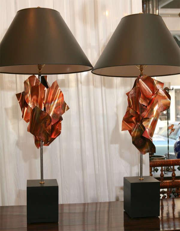 """""""Convolution"""" Sculpture Lamps By Lou Blass 5"""