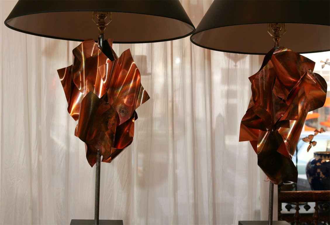 """""""Convolution"""" Sculpture Lamps By Lou Blass 6"""