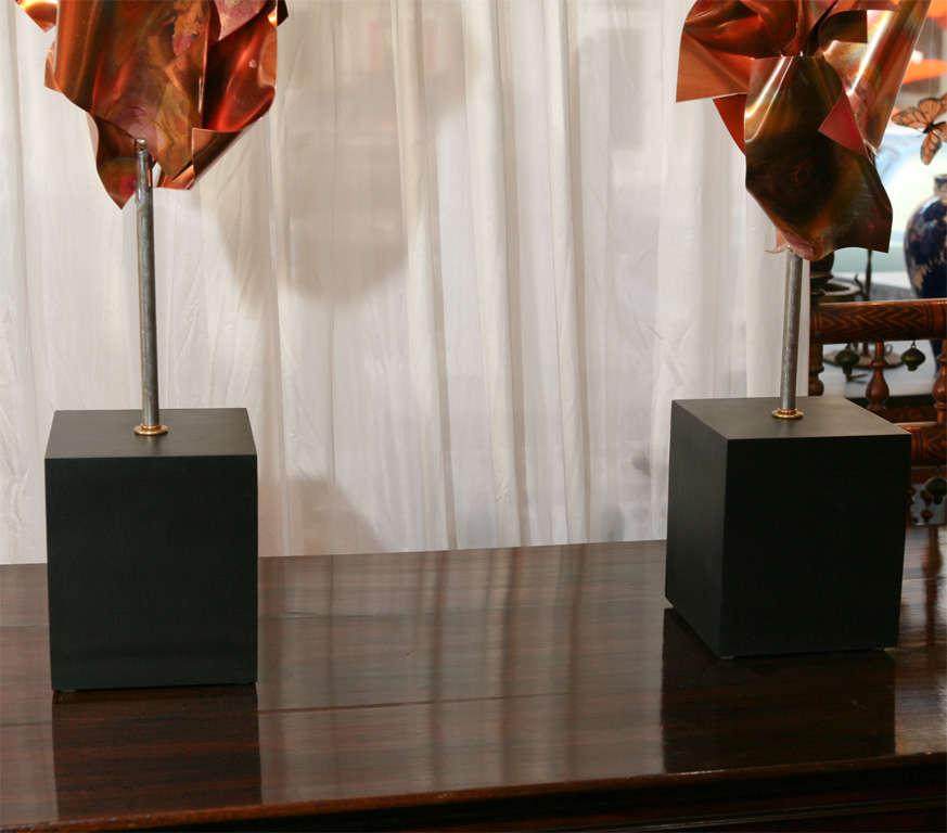 """""""Convolution"""" Sculpture Lamps By Lou Blass 7"""