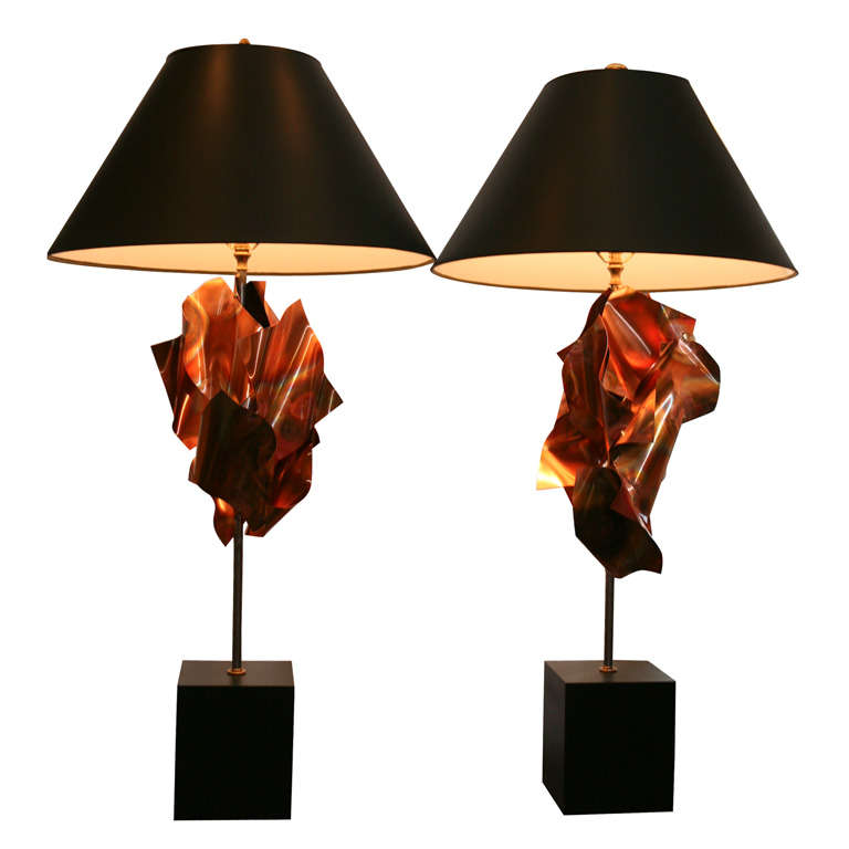 """""""Convolution"""" Sculpture Lamps By Lou Blass 1"""