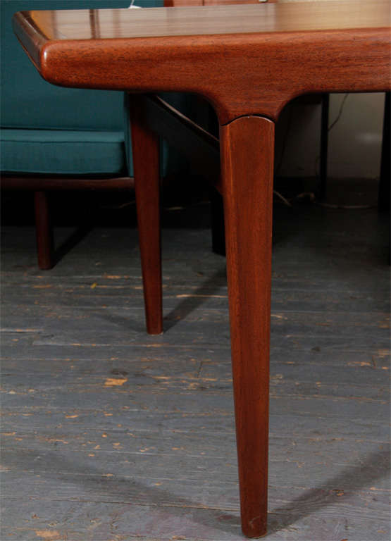 Mid-Century Modern Danish Expandable Dining Table by Johannes Andersen For Sale