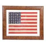 Antique 42-star U.S. Flag c. 1890 Washington Statehood