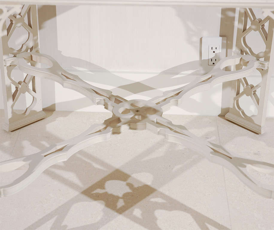 20th Century George the III Chinese Chippendale Style Center Table