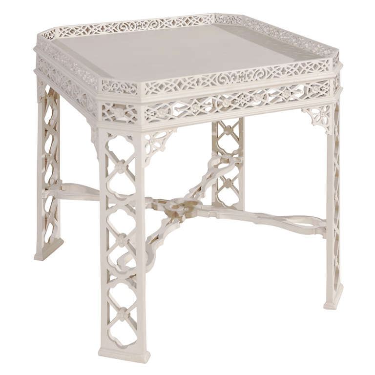 George the III Chinese Chippendale Style Center Table
