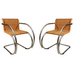 Pair Mies van der Rohe MR Chairs thumbnail 1