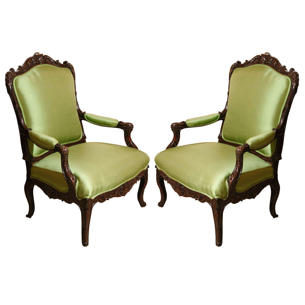 Beau 19th C., Renaissance Style, Northern Italian Chairs For Sale