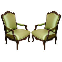 19th c., Renaissance Style, Northern Italian Chairs