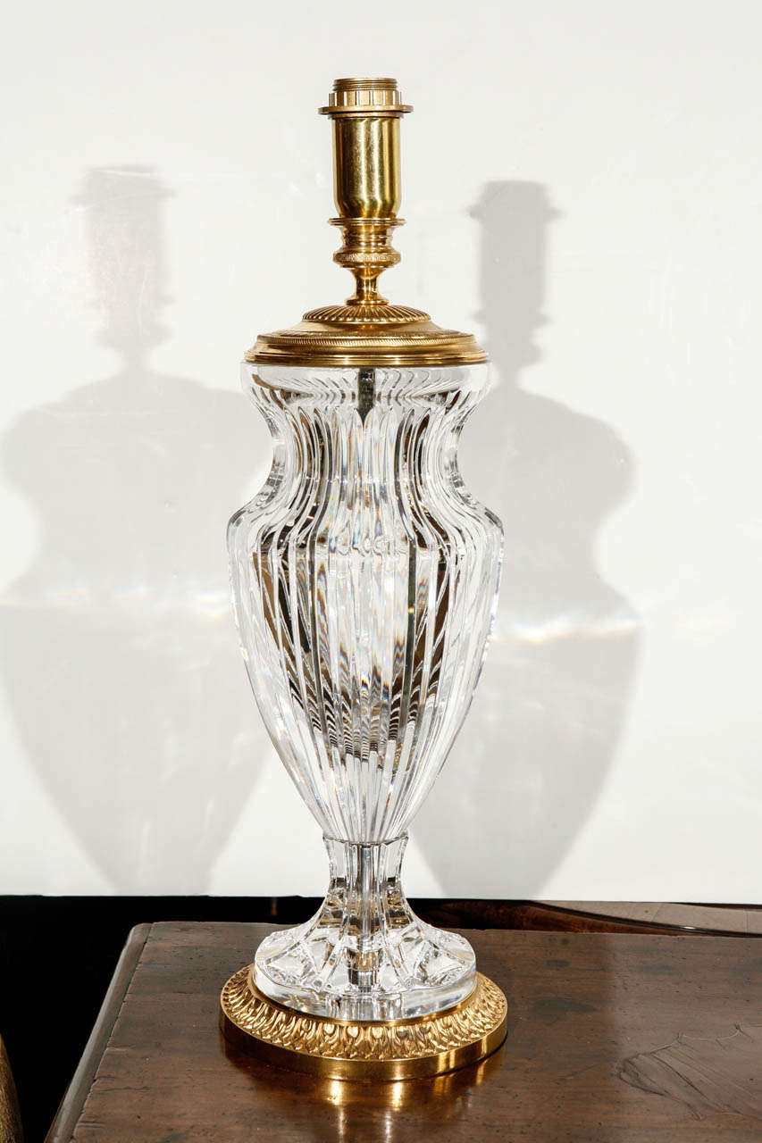 cut crystal table lamps for sale at 1stdibs. Black Bedroom Furniture Sets. Home Design Ideas