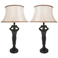 Atlantid-Style Figural Lamps