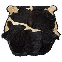 A Vintage Cow Hide Rig With Felt Back