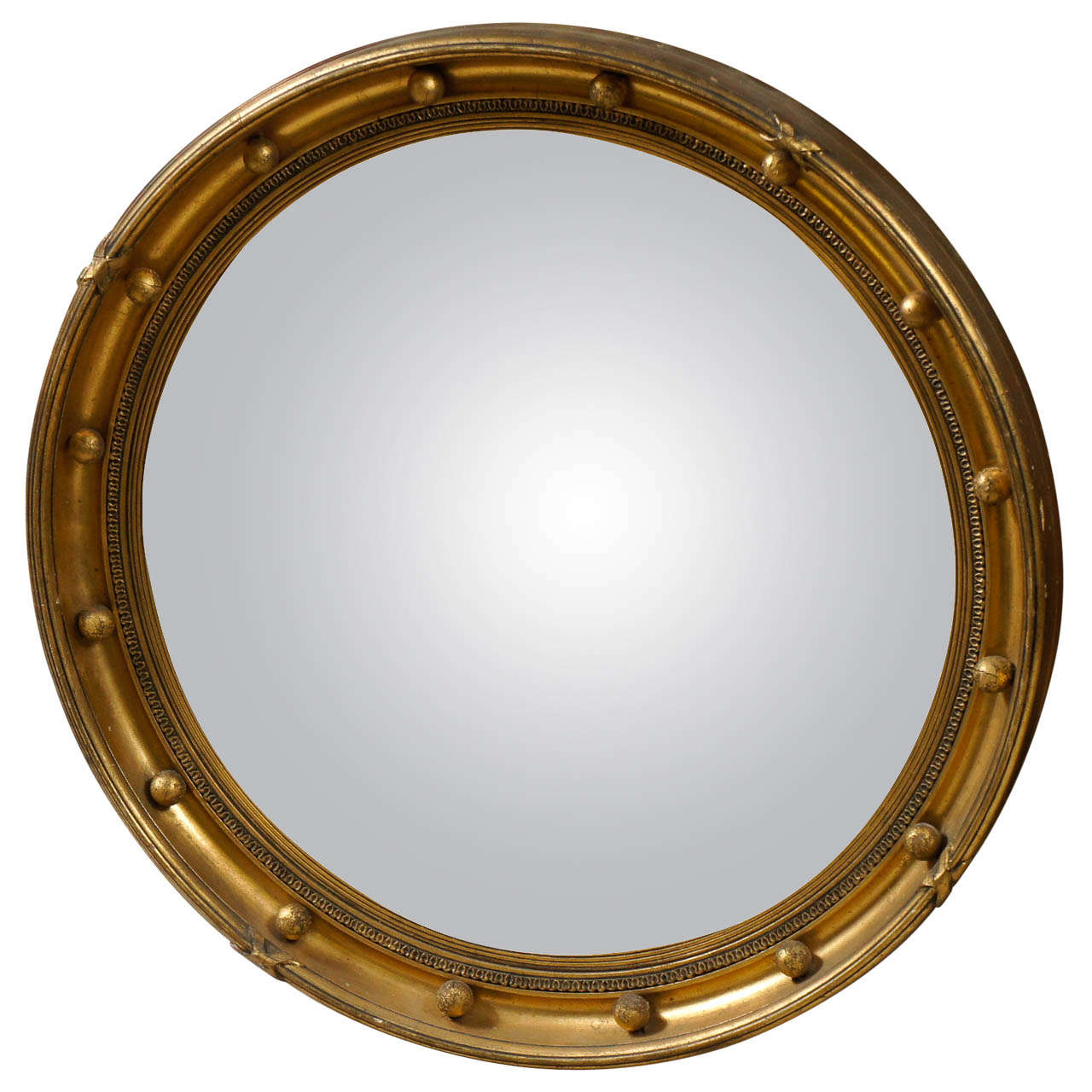 A vintage regency style convex gilded mirror at 1stdibs for Convex mirror