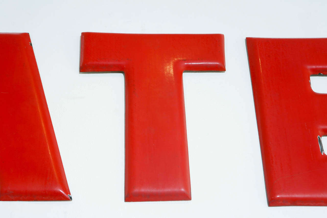 Vintage texaco gas station letters later at 1stdibs for 6 letter word for living room