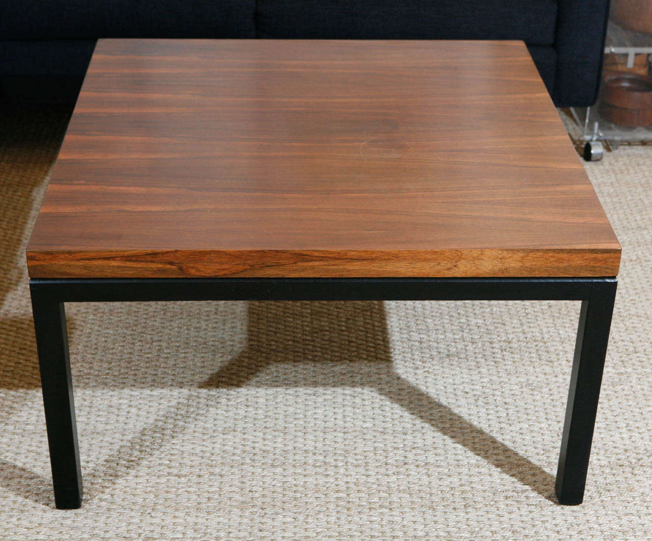 Milo Baughman for Thayer Coggins Square Rosewood Coffee Table at