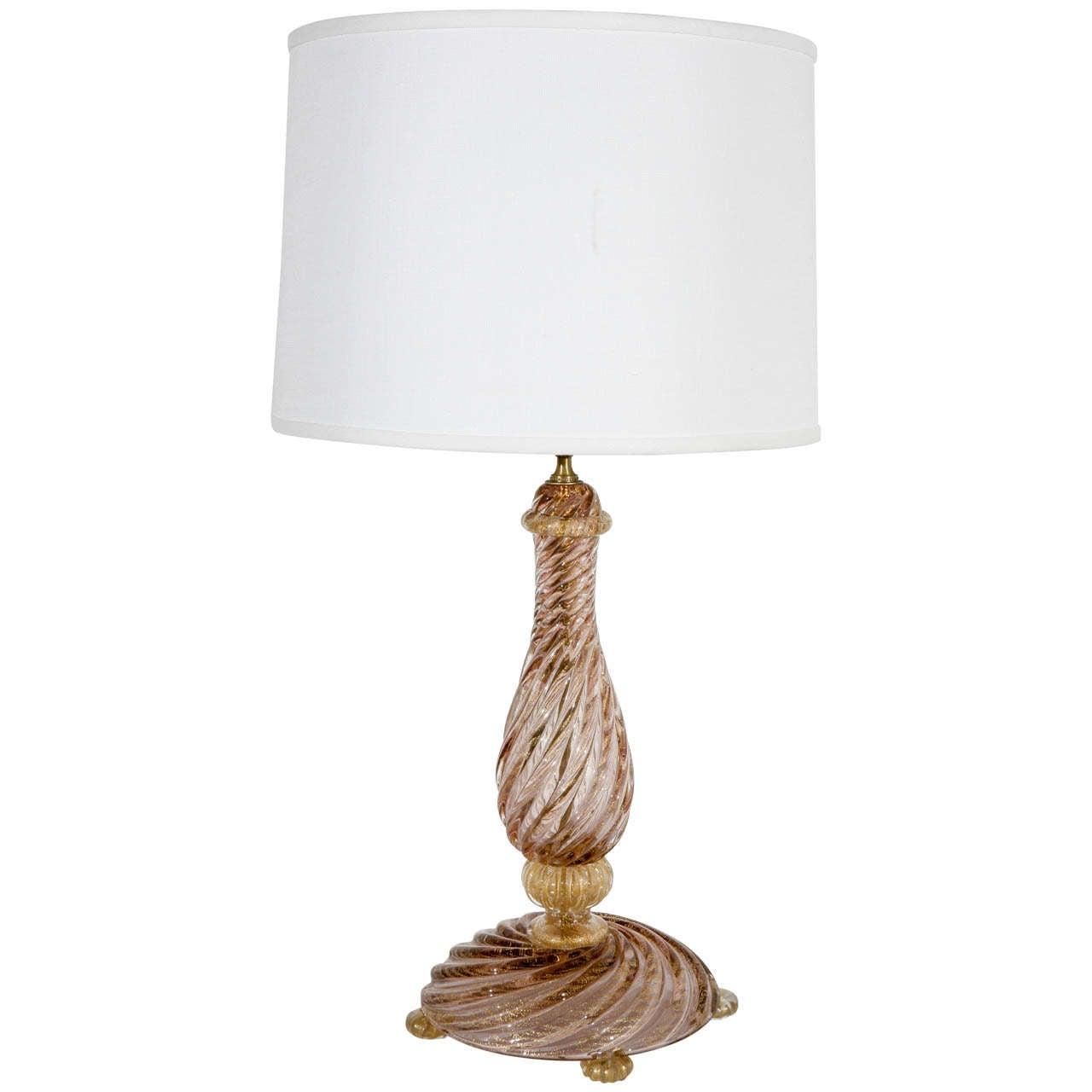 vintage murano glass table lamp. Black Bedroom Furniture Sets. Home Design Ideas
