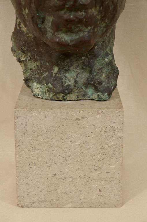Cast bronze bust by Sydney Harpley For Sale 4