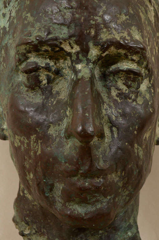 British Cast bronze bust by Sydney Harpley For Sale