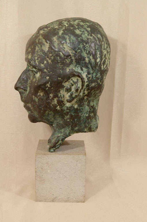 20th Century Cast bronze bust by Sydney Harpley For Sale