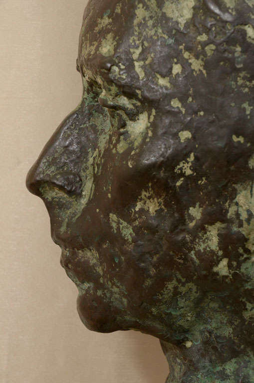 Bronze Cast bronze bust by Sydney Harpley For Sale