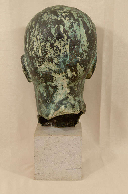 Cast bronze bust by Sydney Harpley For Sale 1