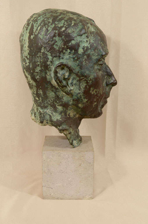 Cast bronze bust by Sydney Harpley For Sale 2
