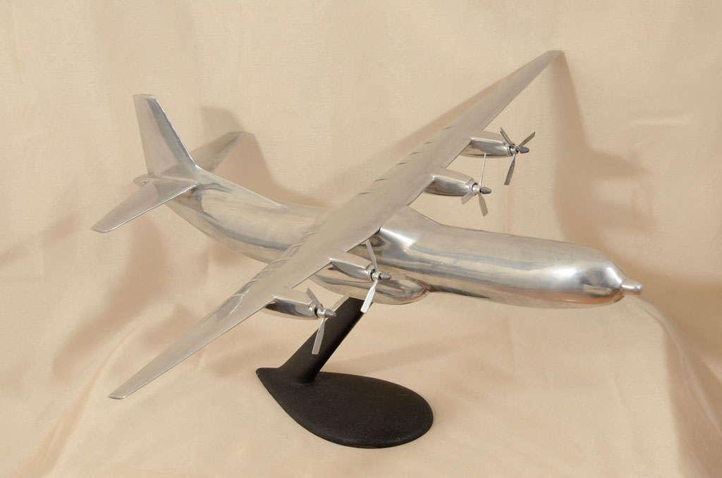 Polished Aluminum Douglas C-133 Cargomaster Model Airplane For Sale 5