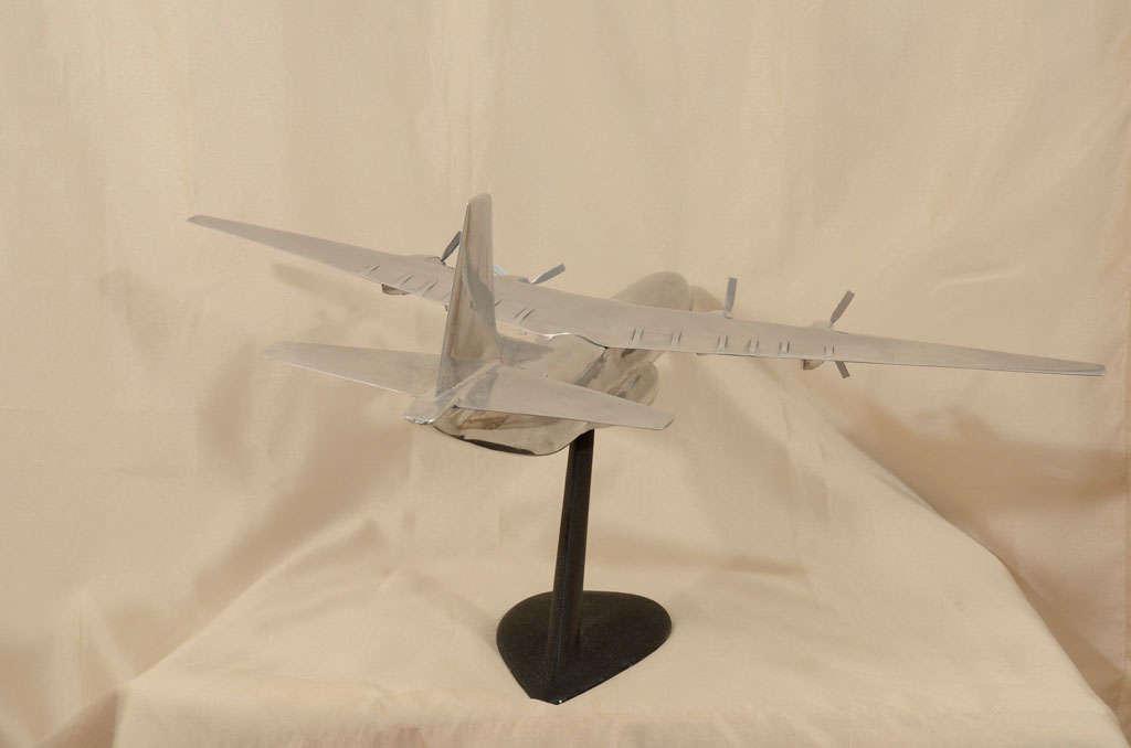 Polished Aluminum Douglas C-133 Cargomaster Model Airplane For Sale 3