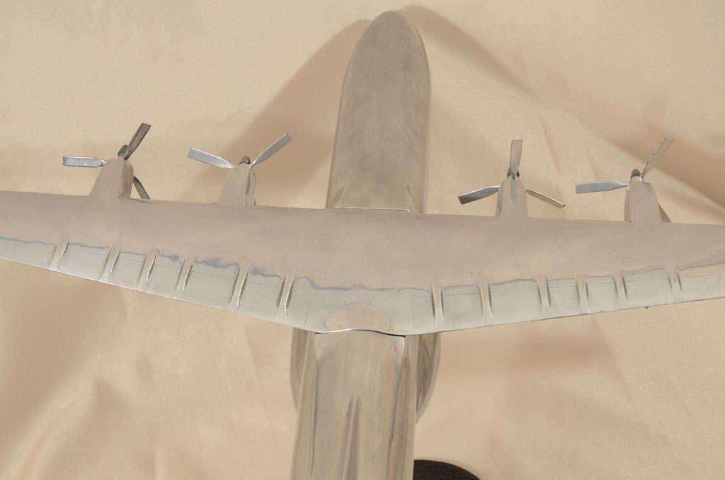 Polished Aluminum Douglas C-133 Cargomaster Model Airplane For Sale 4