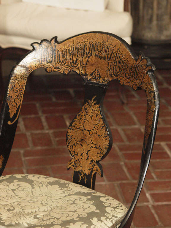 American Pr Of Early Papier Mache Chairs