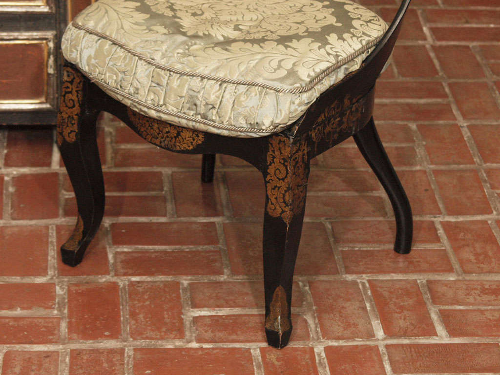 Pr Of Early Papier Mache Chairs 1