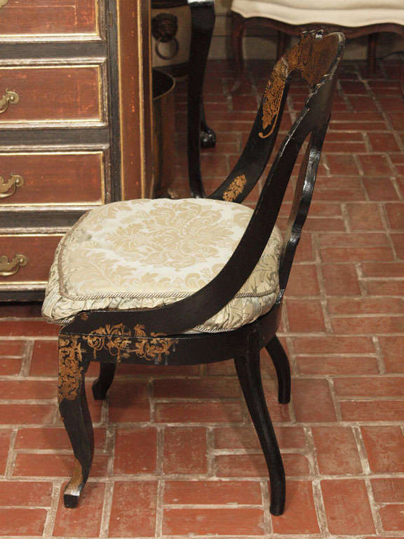 Pr Of Early Papier Mache Chairs 4