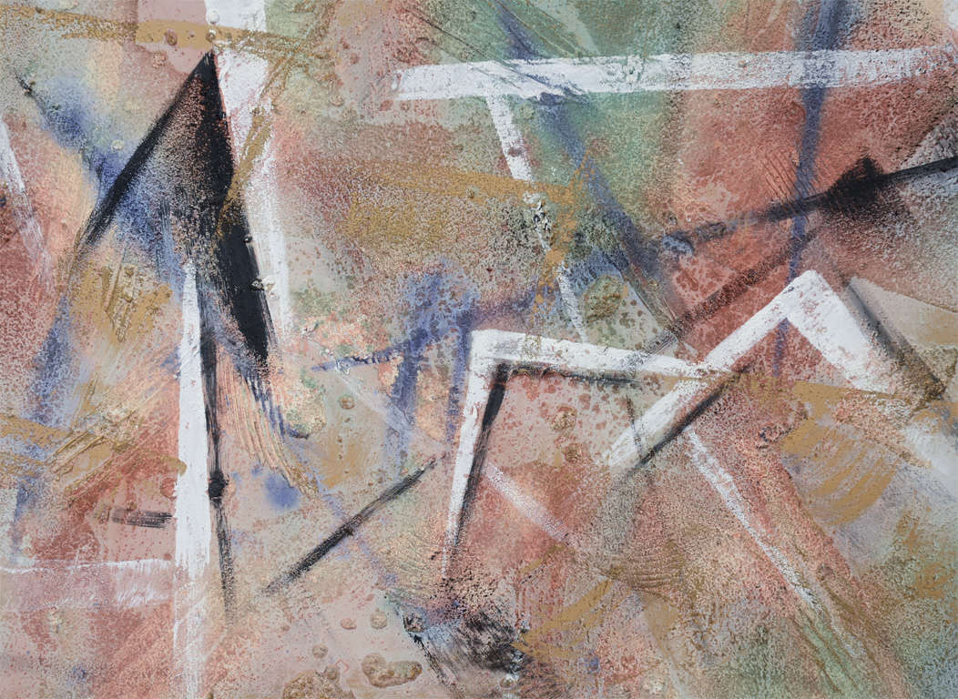 vintage textured abstract painting by lee reynolds at 1stdibs