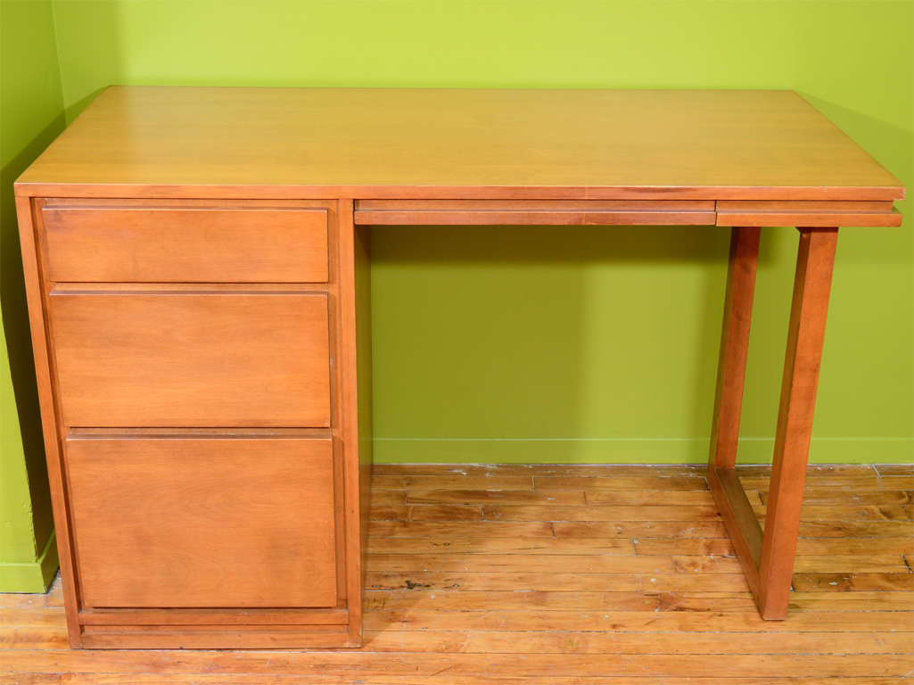 Mid Century Russel Wright For Conant Ball Desk And Chair At 1stdibs