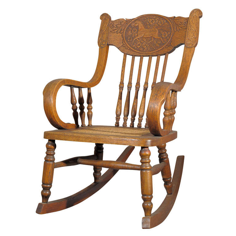 Child S Rocking Chair In Oak At 1stdibs