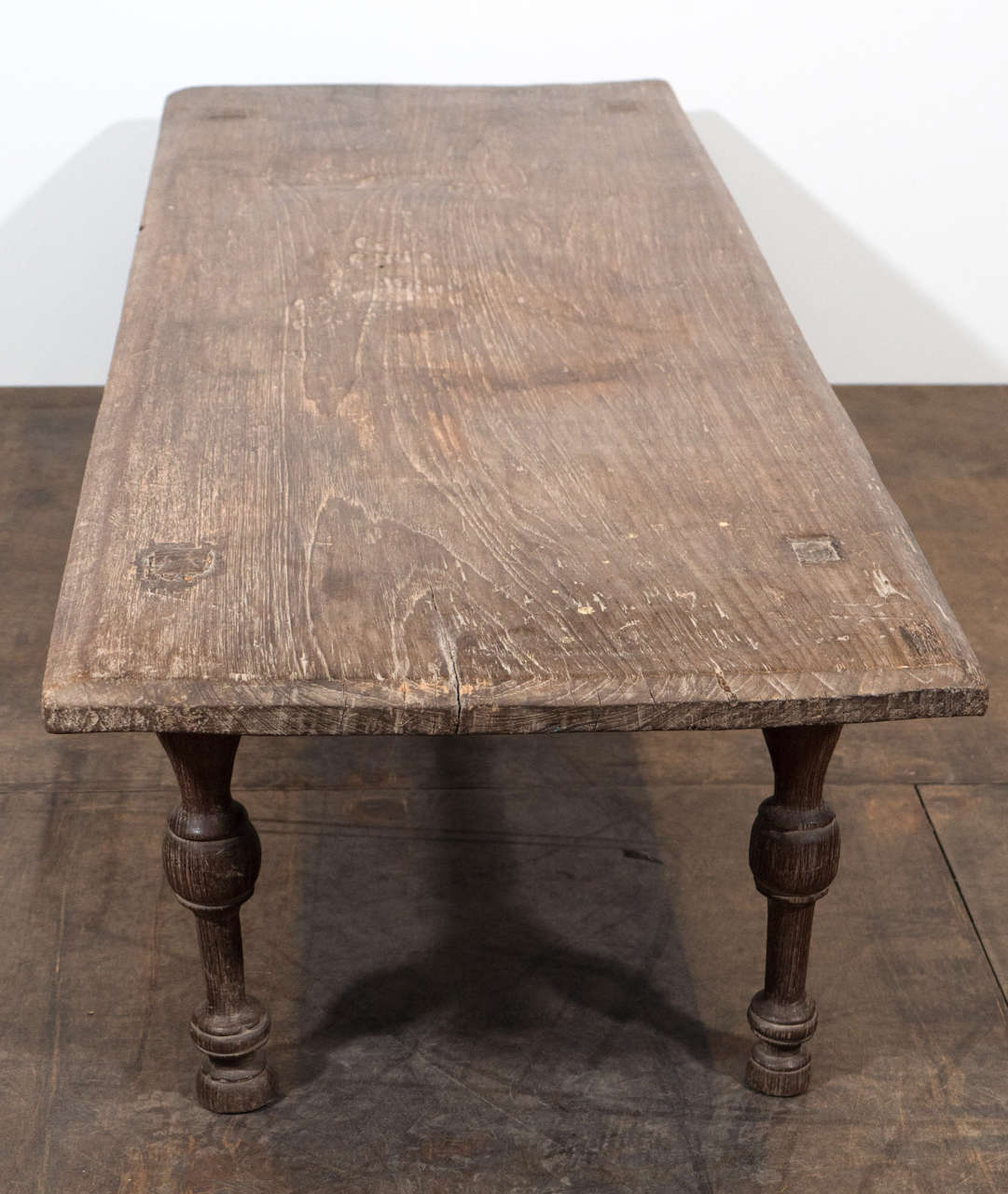 Antique Teak Coffee Table: Antique Single Teak Slab-Top Coffee Table At 1stdibs